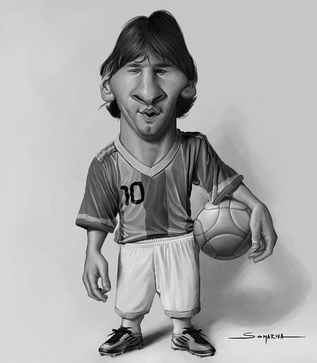 Messi - messi, caricature, soccer - lucassomariva | ello