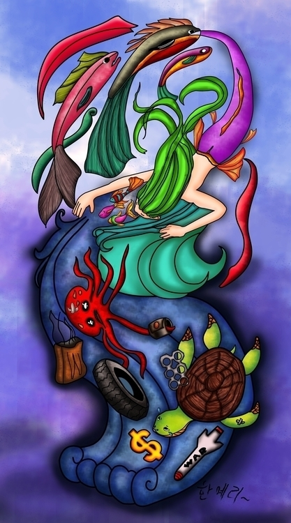 Water money - illustration, drawing - hanjeri | ello