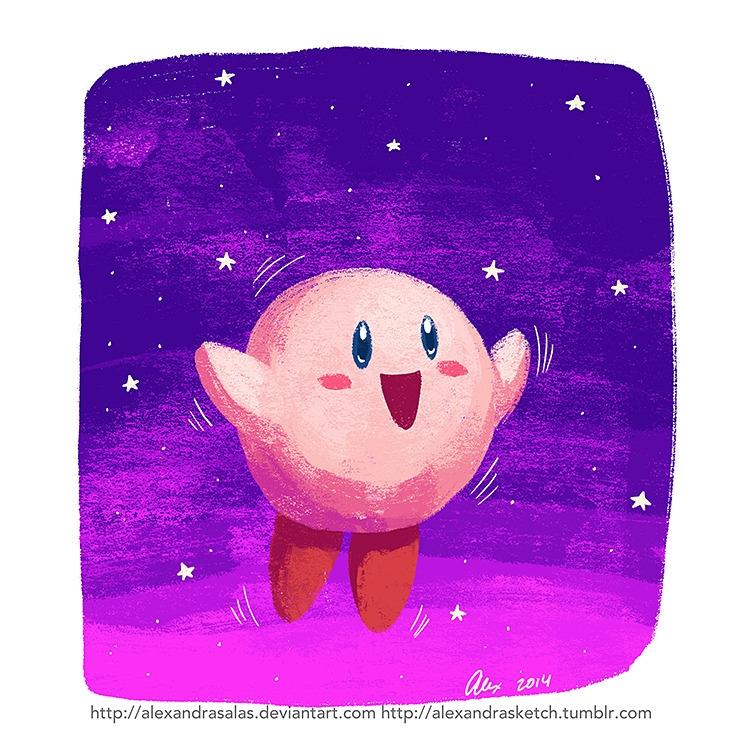 Kirby - illustration, digital - alexandrasketch   ello
