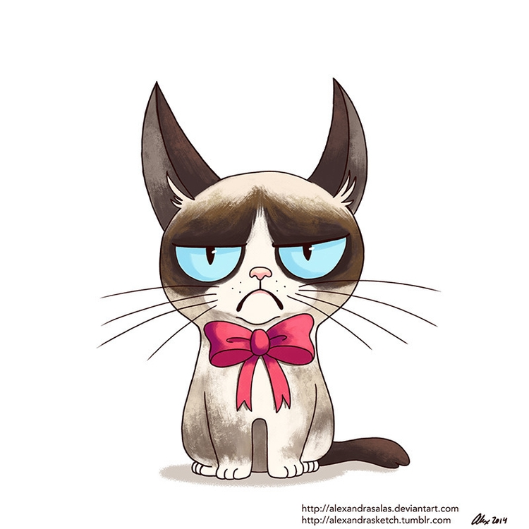 Grumpy Cat collab - grumpycat, illustration - alexandrasketch | ello