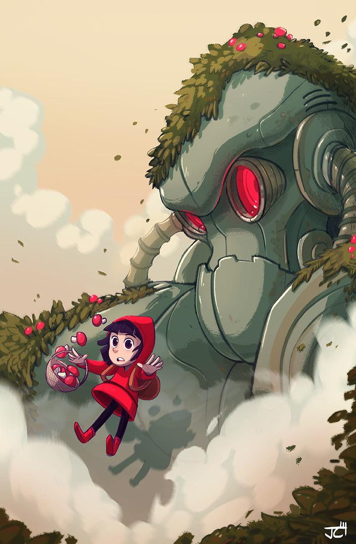 Robot - mushroom, girl, robot - justinchan-1699 | ello