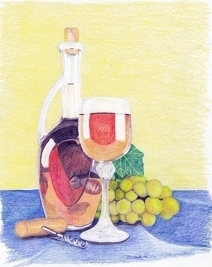 Wine Time - drawing - brandyhouse | ello