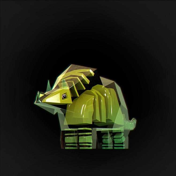 lowpoly, triceratops, dinosaur - chafouinade | ello
