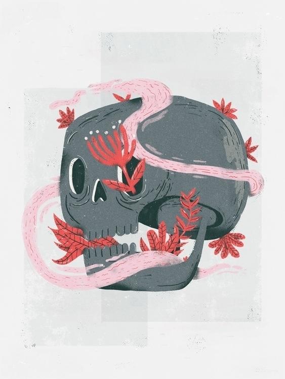 skull, skull, gray, death, life - rfortes | ello