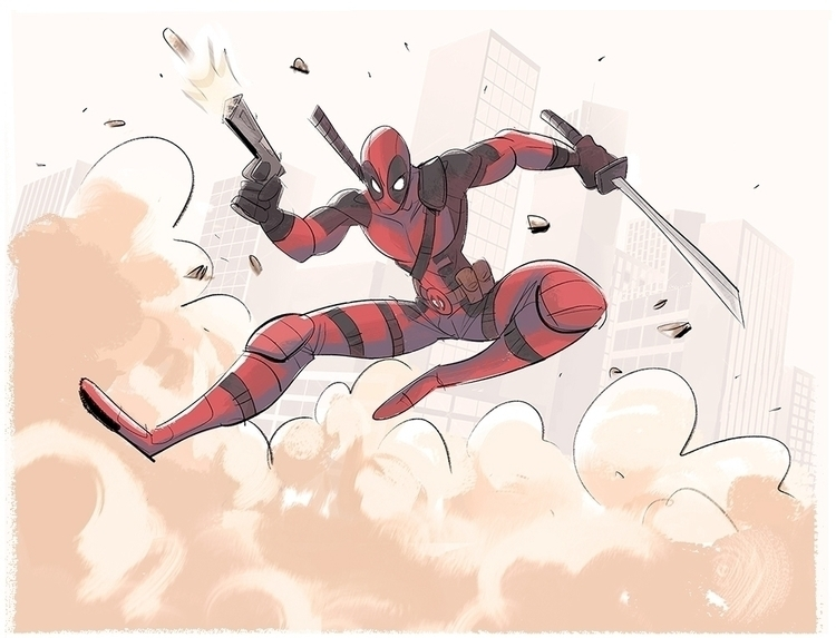 bit Deadpool - characterdesign, illustration - drawandestroy | ello