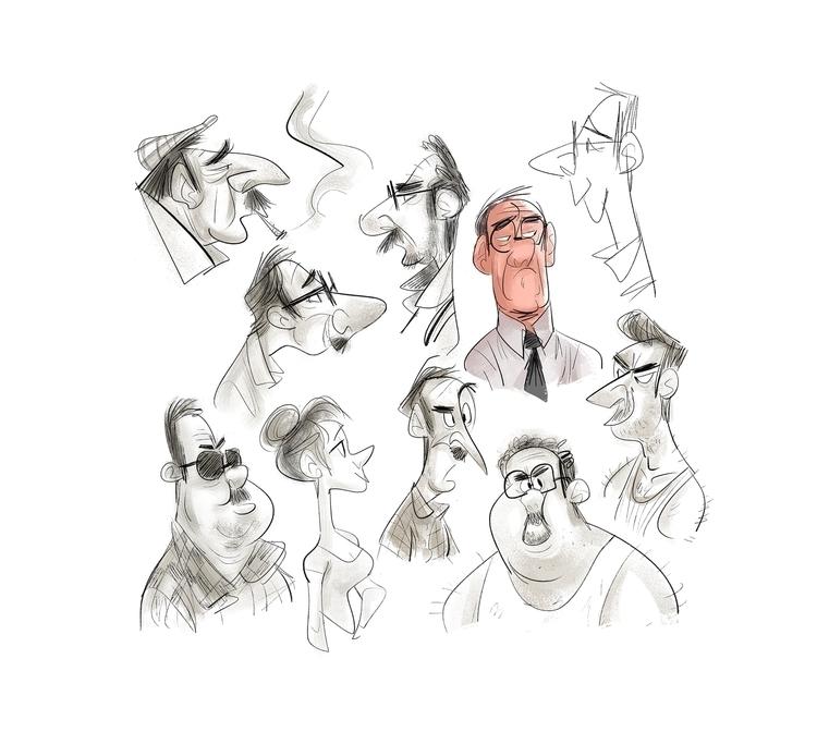 Dooooodles - characterdesign, sketch - drawandestroy | ello
