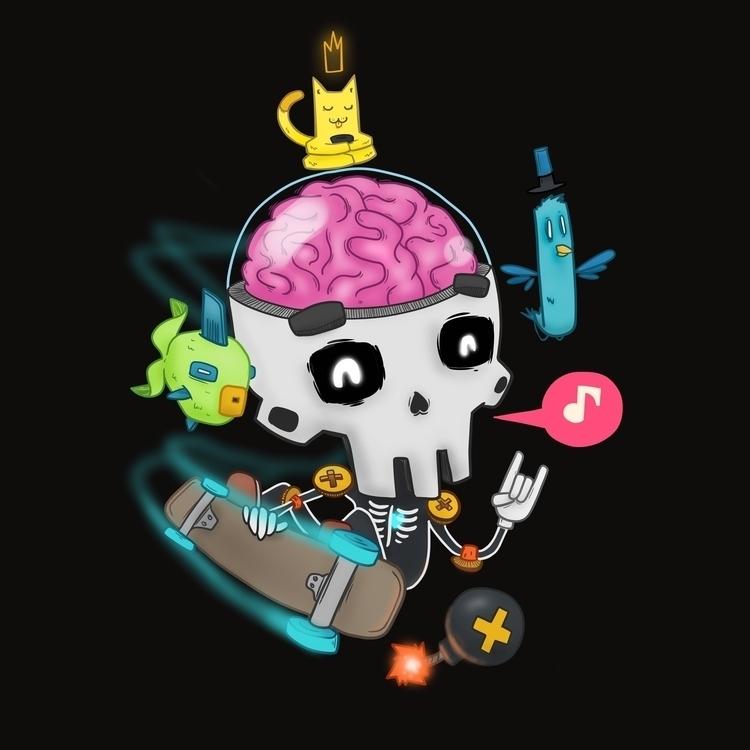 Calaverita Skate - skull, skate - alejandrodas | ello