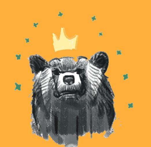 happy bear - drawing, animal, doodle - soso-6104 | ello