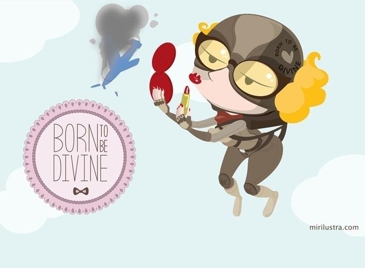 Born divine - illustration, characterdesign - mirilustra | ello