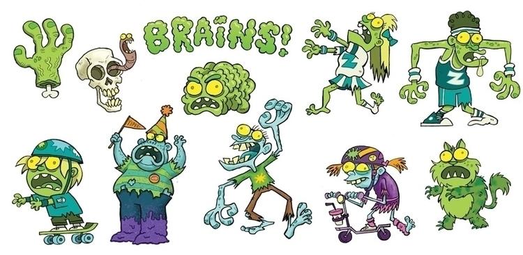 Zombies - illustration, characterdesign - aaronblecha   ello