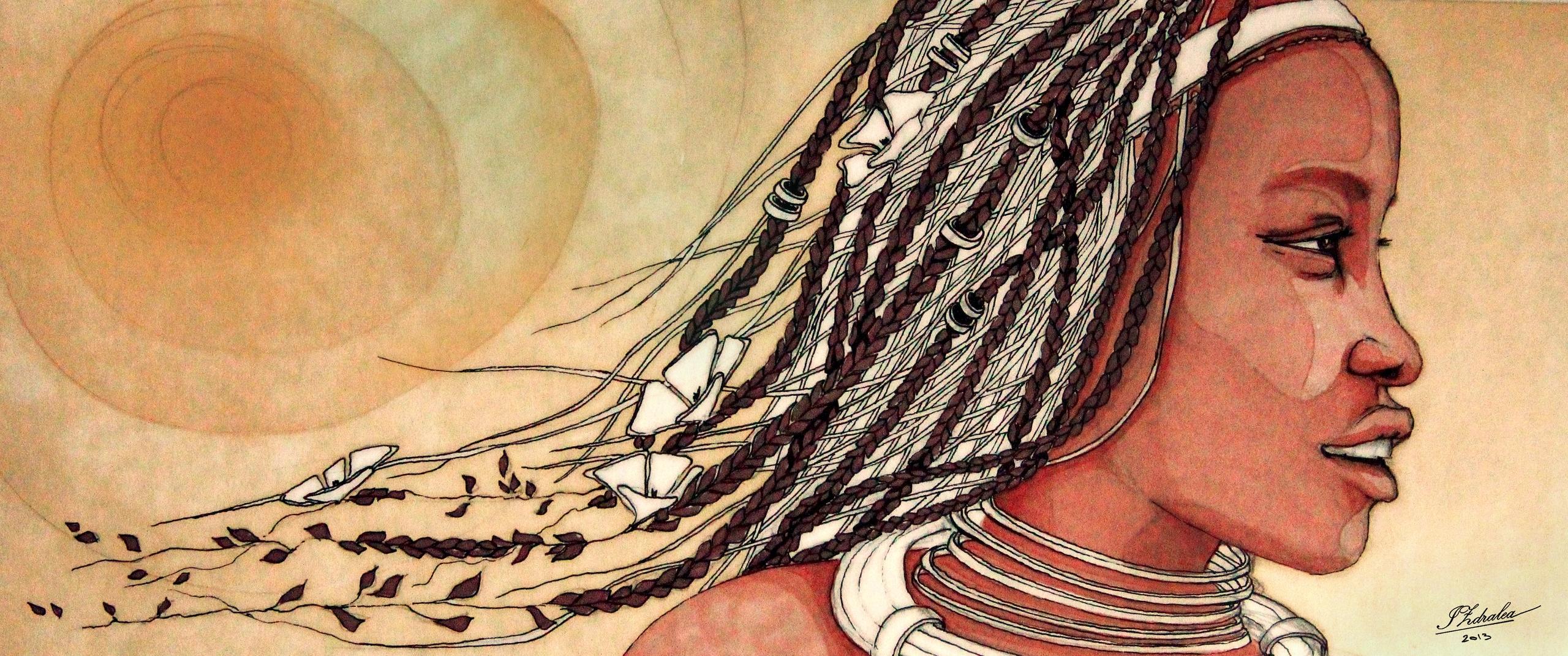 African sun - illustration, watercolour - ioanaz | ello