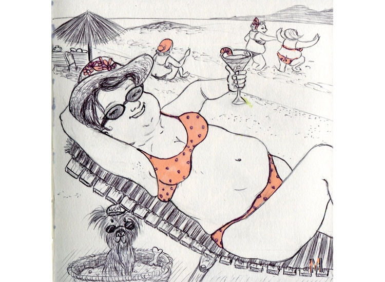 Summer time - drawing, illustration - mirilustra | ello