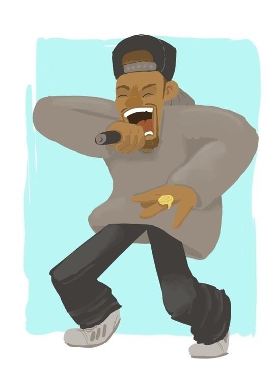 rapper - rap, music, figuredrawing - cjwords | ello