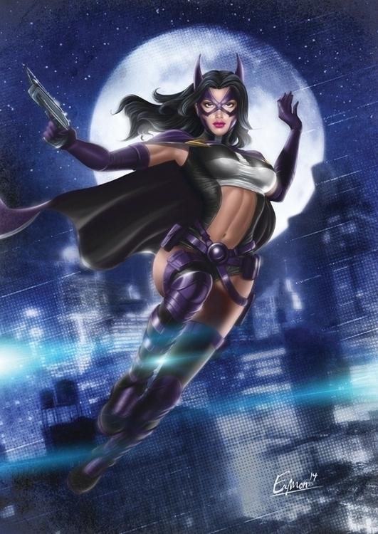 huntress,DCComics,Comicbook,superhero,pinupdigital - eamon-9249   ello