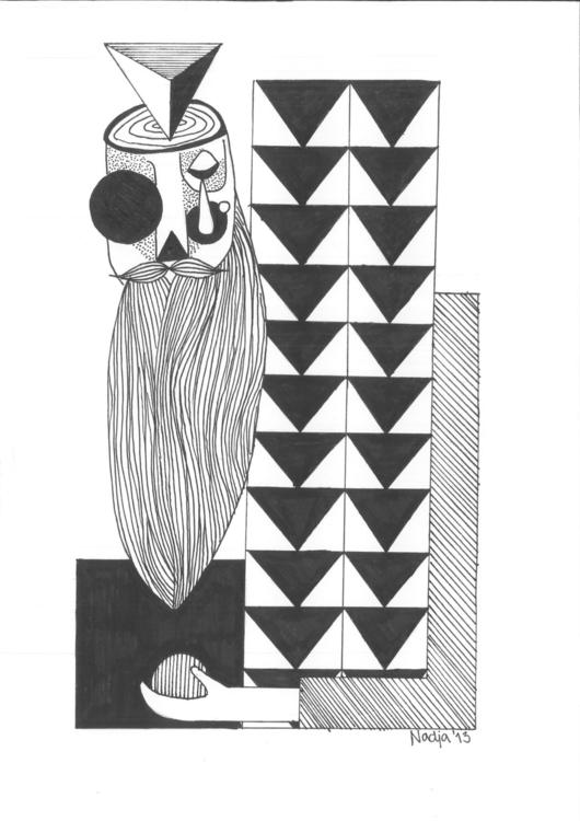 bearded man part series illustr - nadjastriib | ello