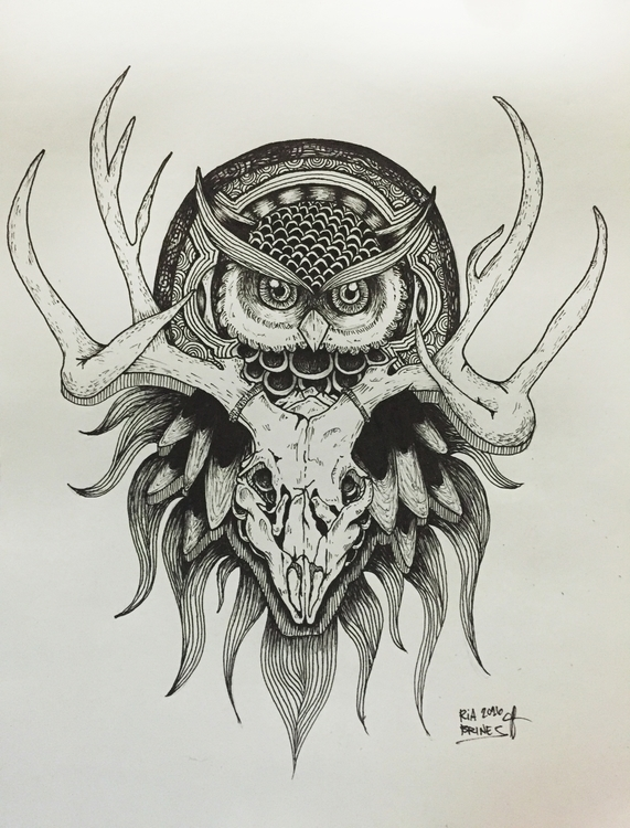 concept art tattoo design - illustration - ria-1182 | ello