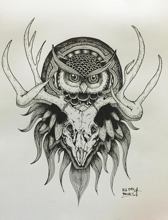 concept art tattoo design - illustration - ria-1182 | ello