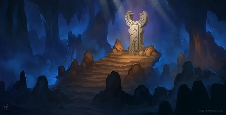 Altar - illustration, underground - kamilteczynski | ello
