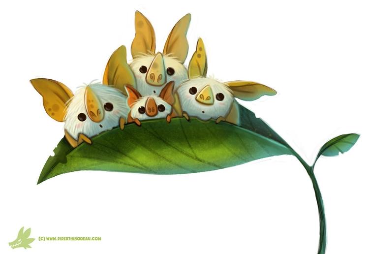 Daily Paint Honduran White Bats - piperthibodeau | ello