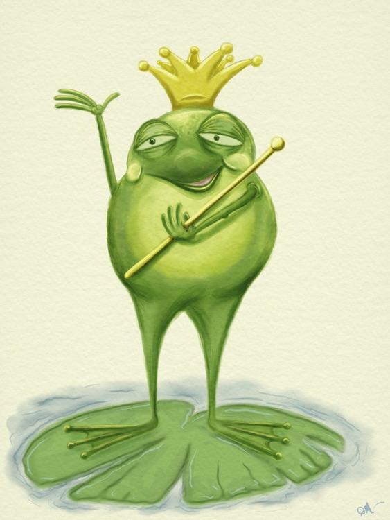 frog prince. achieve watercolor - dmerchen | ello