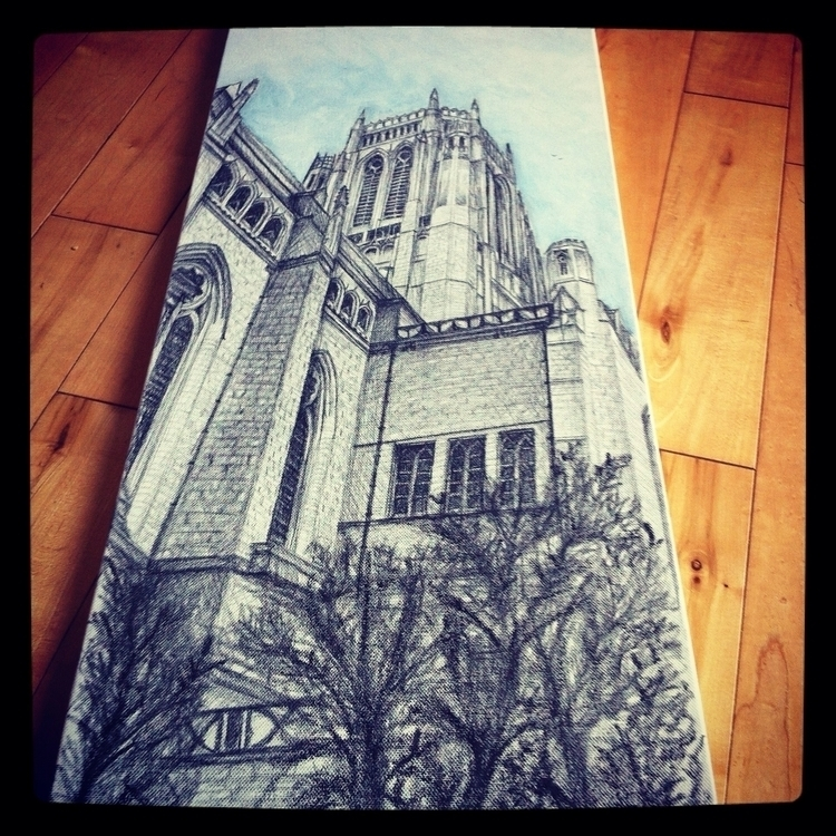 Anglican Cathedral, Liverpool - drawing - artla | ello