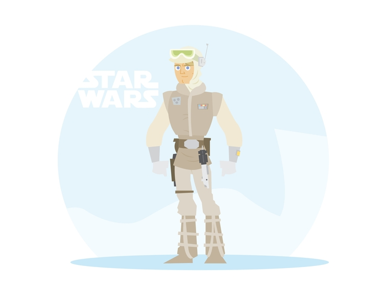 Hoth Skywalker - starwars, illustration - dillonwheelock | ello