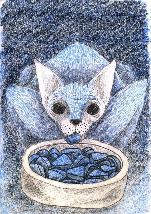 Cat - 5, illustration, comics - olga_msk   ello