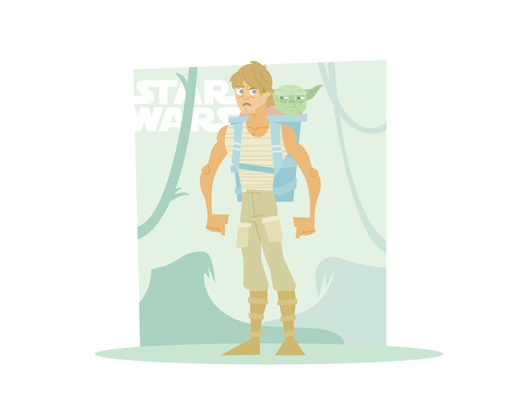 Dagobah Skywalker - starwars, illustration - dillonwheelock | ello