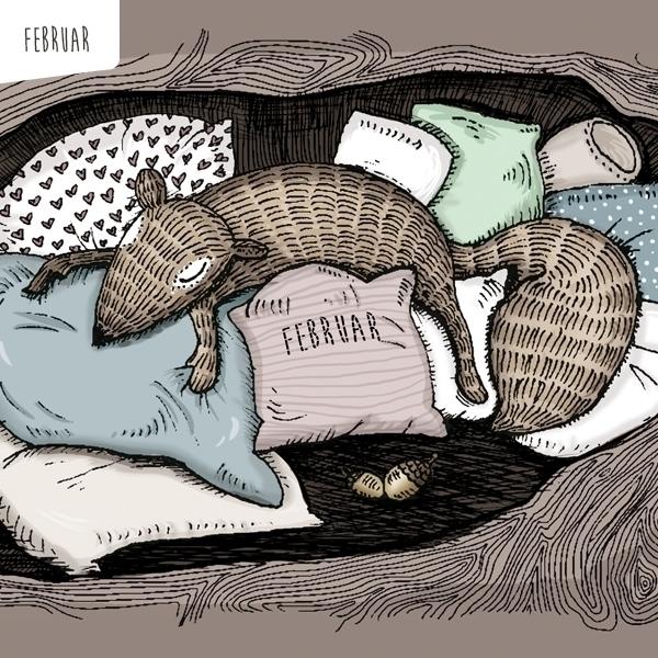 Calendar Illustration - februar - stefanietwellmann | ello