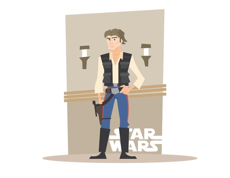 Mos Eisley Solo - starwars, illustration - dillonwheelock | ello