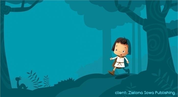 fern - illustration, forest, night - marcinpoludniak | ello