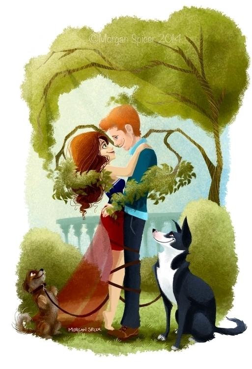 Zack - love, illustration, dogs - barkpointstudio | ello
