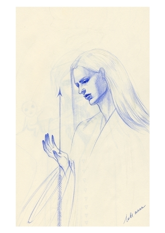 late - art, drawing, illustration - annaorca | ello