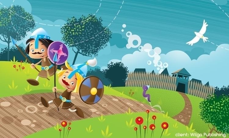 knights - illustration, knight, shieldknight - marcinpoludniak | ello