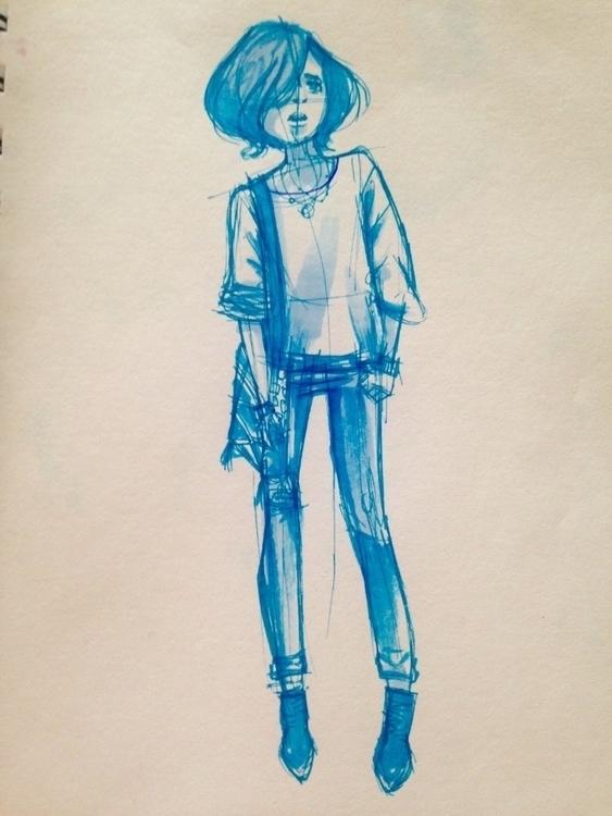 illustration, drawing, fashion - islasmowin | ello