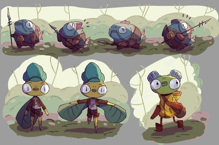 sketch, characterdesign, comics - sergeygudkov | ello