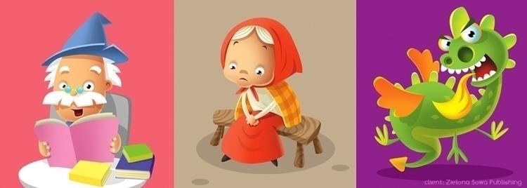 002 - illustration, dragon, grandmother - marcinpoludniak | ello