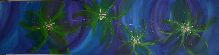 Fantasy Flowers . Acrylic Abstr - suzanne88 | ello
