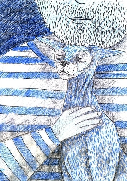Cat - 21, illustration, story, storytelling - olga_msk | ello