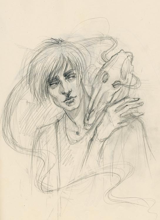 world... Sketch favourite book  - annaorca | ello