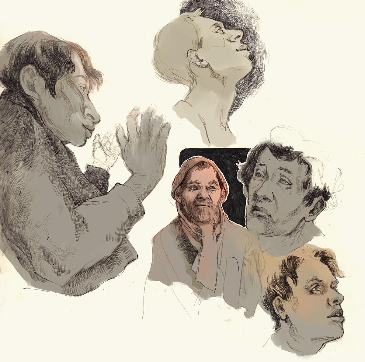 illustration, thomkemeyer, charactersketches - thomke-9244 | ello