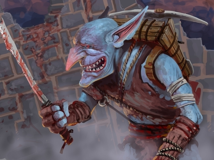 Crazed Goblin - fantasy, digitalart - ulrich-3349 | ello