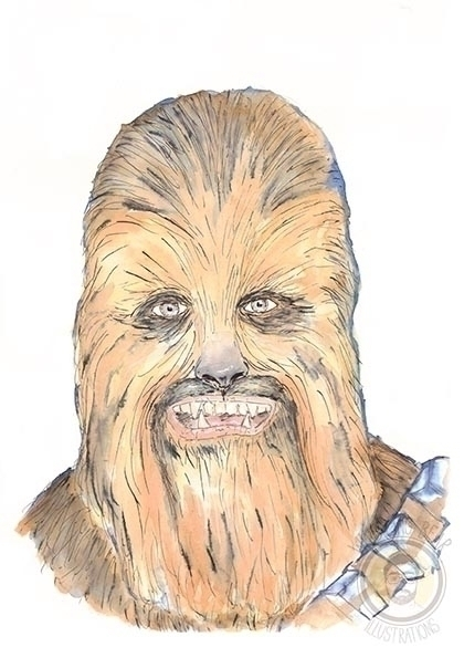 Chewbacca - starwars, fanart, watercolour - whistlingbear | ello