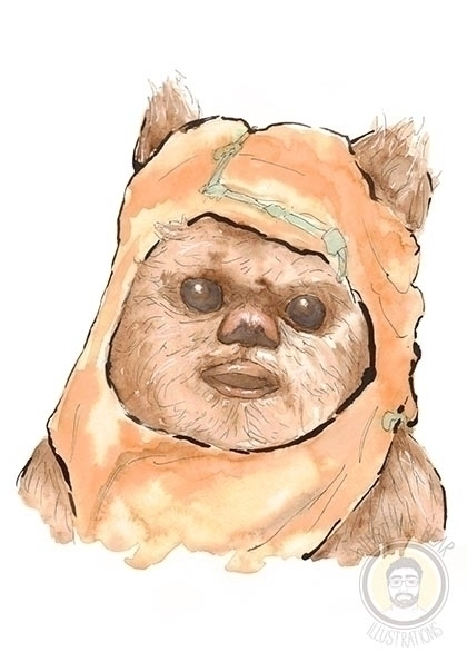 Ewok - starwars, fanart, illustration - whistlingbear | ello