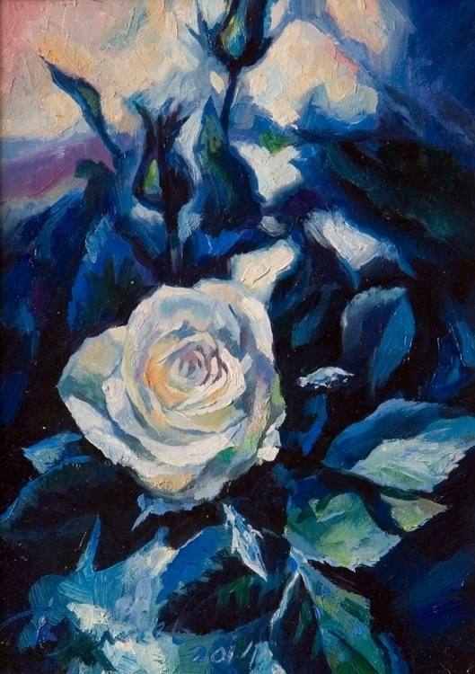 Rose sadness - painting, flowers - gazer-9289 | ello