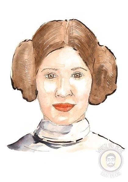 Leia Organa - starwars, fanart, illustration - whistlingbear | ello