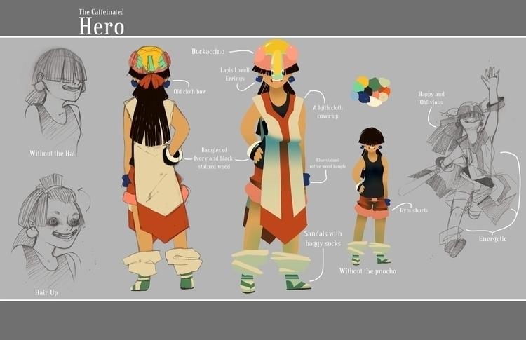 Final character concept Duck Qu - scookart | ello