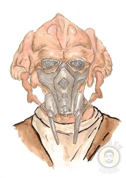 Plo Koon - starwars, illustration - whistlingbear | ello