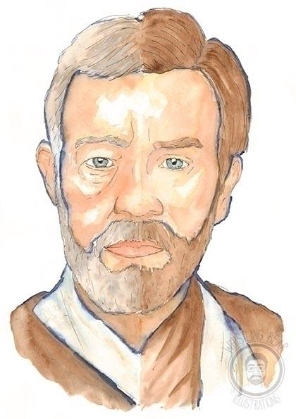 Obi Wan Kenobi - illustration, starwars - whistlingbear | ello