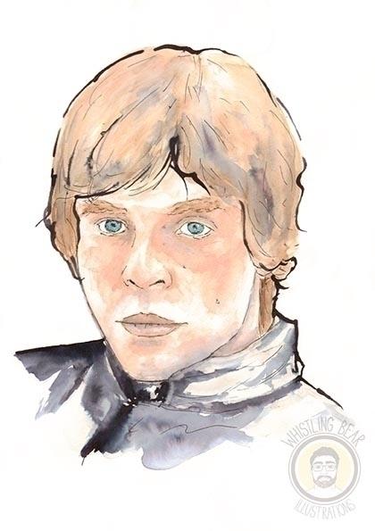 Luke Skywalker - starwars, illustration - whistlingbear | ello